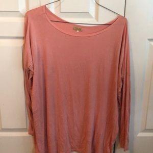 Pink piko blouse